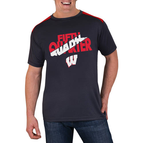 NCAA Wisconsin Badgers Men's Athletic-Fit Impact T-Shirt