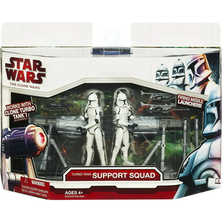 Turbo Tank Support Squad Action Figure Set Star Wars The Clone Wars