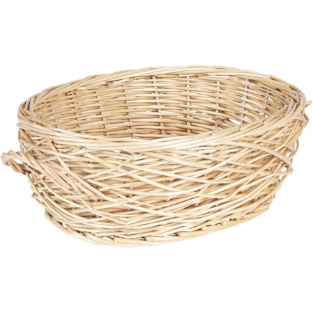 Brown Oval Basket - Household Essentials Spring Bird Nest Willow Oval Basket