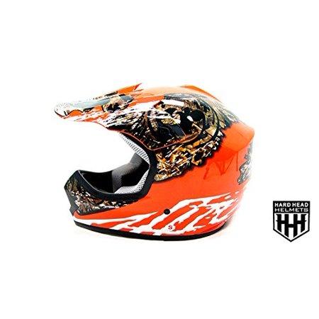 Camo Large Helmet (DOT Youth & Kids Helmet for Dirtbike ATV Motocross MX Offroad Motorcyle Street bike Flat Matte Black Helmet (Large, Real Tree Camo) )