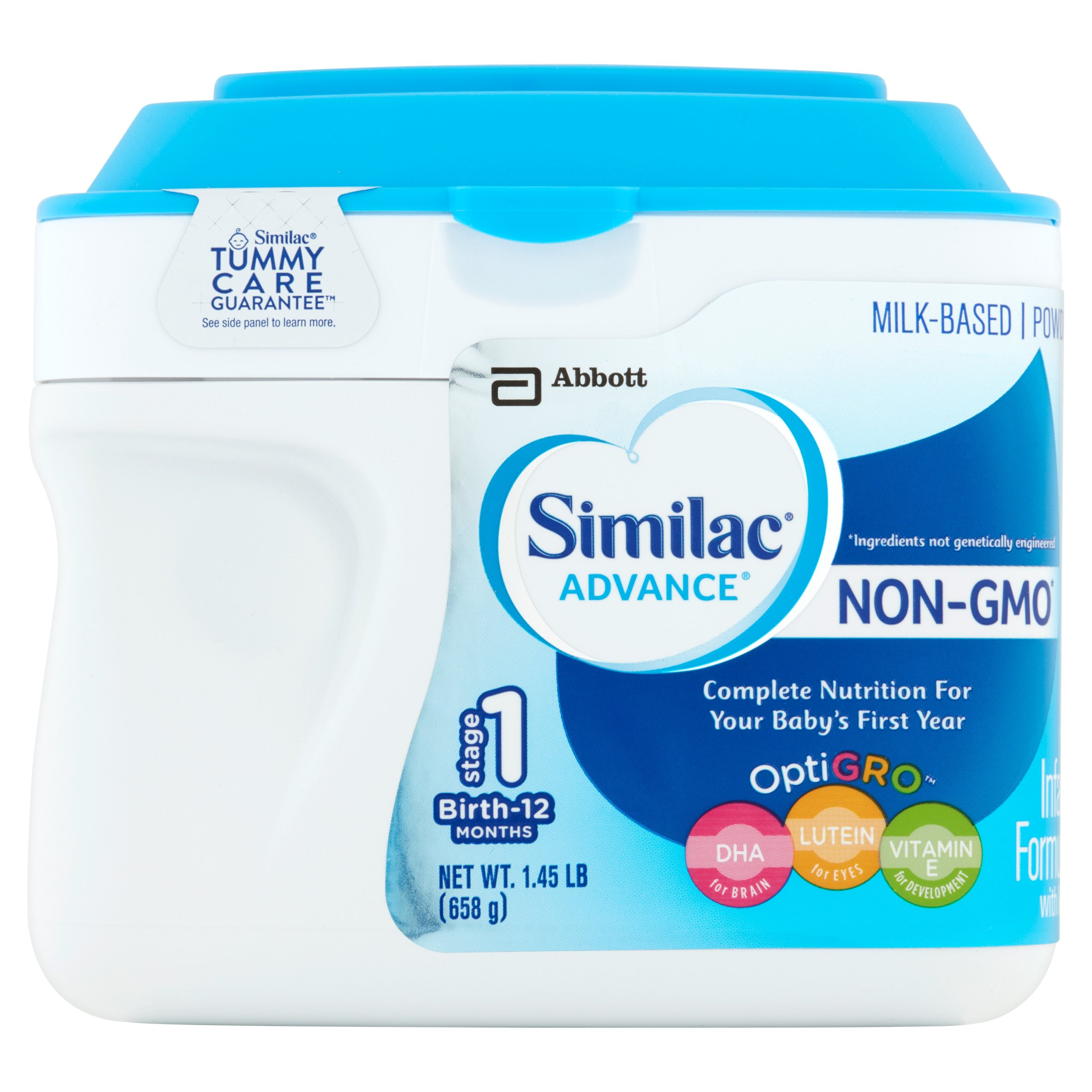 Similac Advance NON-GMO Infant Formula with Iron, Powder, 1.45 lb (Pack of 6)