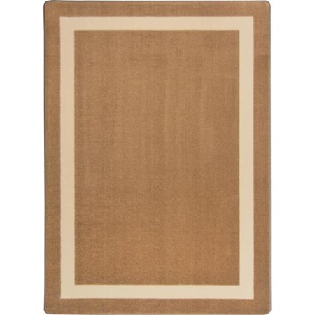Kid Essentials Portrait Round Misc Solid Color Area Rugs, 05 Mocha - 5 ft. 4 in.