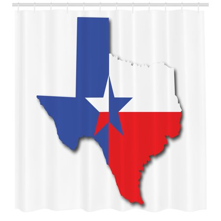 Outline Of Texas Map.Texas Star Shower Curtain Outline Of The Texas Map American