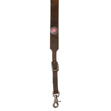 Custom United States Coast Guard Leather suspenders in Bay Apache Brown. Made in the USA