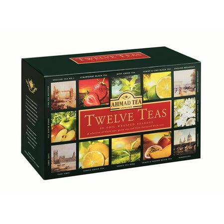 Ahmad Tea, Twelve Teas, 60 ct, 4.2 Oz (Ahmad Tea Glass)
