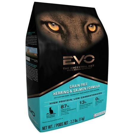 Evo Grain Free Herring And Salmon Formula Dry Cat Food