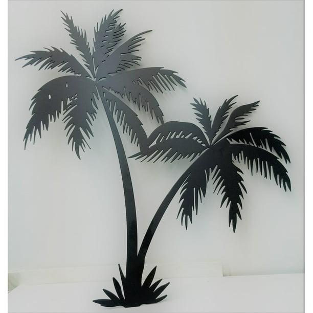 Twin Palm Trees 16 Tall Wrought Iron Wall Art Home Decor Tropical Beach Metal Plaque Walmart Com Walmart Com