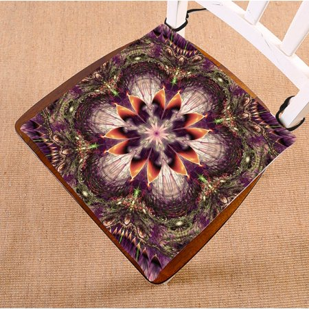 PHFZK Abstract Chair Pad, Hippie Mandala Seat Cushion Chair Cushion Floor Cushion Two Sides Size 16x16 inches