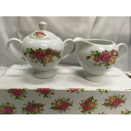 Fine China, Roses Sugar and Creamer Set