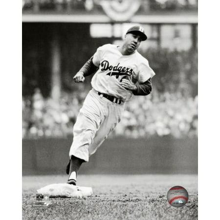 Duke Snider 1956 Action Photo Print (Signed Duke Snider Photograph)