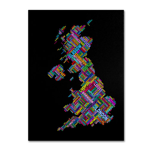 "Trademark Fine Art ""United Kingdom VII"" Canvas Wall Art by Michael Tompsett"