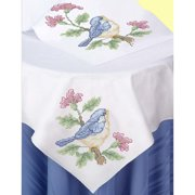 Herrschners Springtime Table Topper & Runner Stamped Cross-Stitch