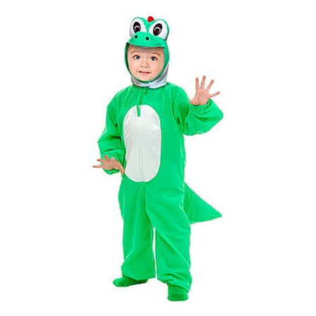 Yoshimoto the Green Dino Toddler Yoshi Super Mario brothers Costume - Brother And Baby Sister Halloween Costumes