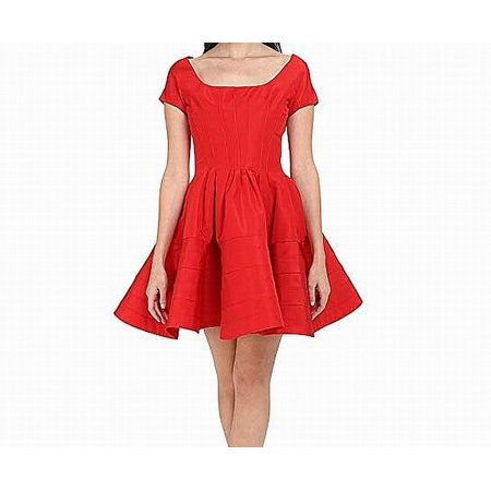 Grendine Womens PLeated Silk A-Line Dress 8 Pleated Silk Sweater Dress