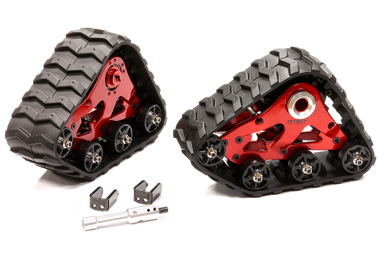 Integy RC Toy Model Hop-ups T8633RED Rear Snowmobile & Sandmobile Conversion for Traxxas 1... by Integy