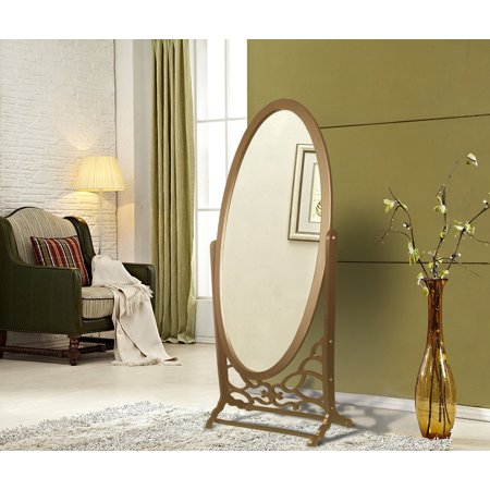 Chic Home York Mirror Modern Free Standing Spindle Accent Legs Floor Mirror  Gold