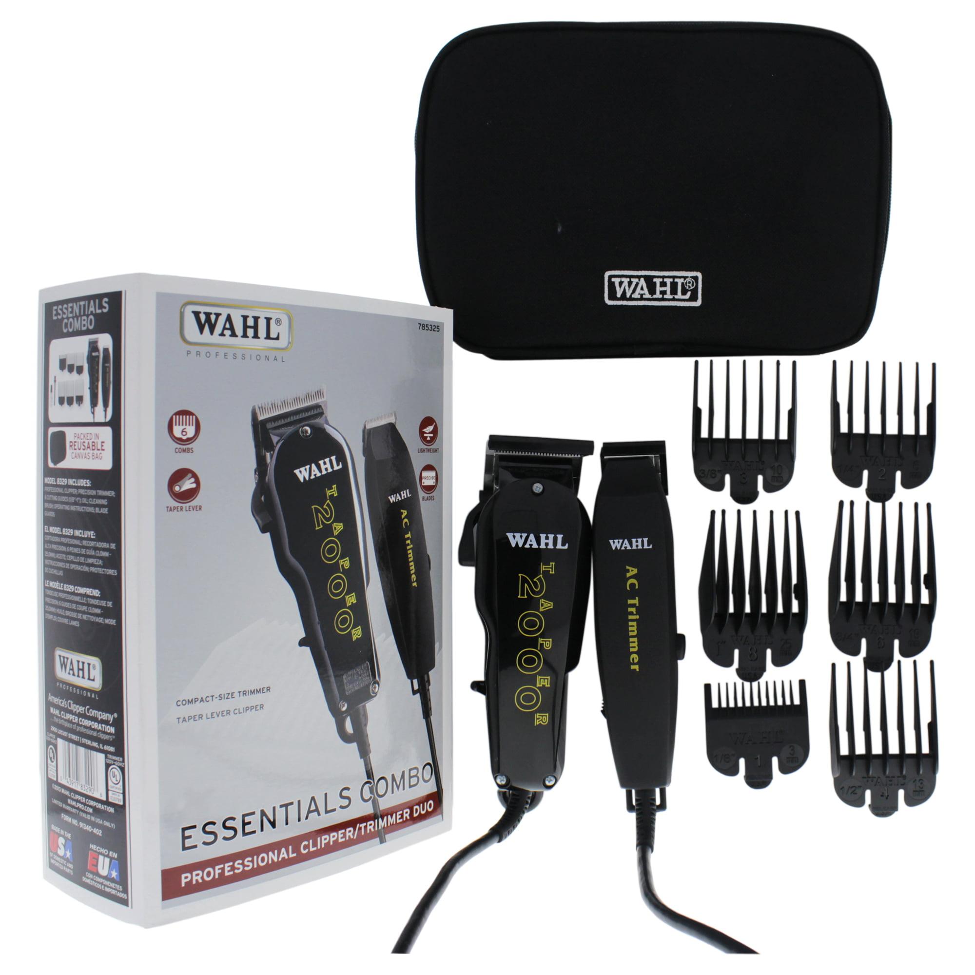 WAHL Professional Essentials Combo Professional Clipper/Trimmer Duo - Model # 8329 - Black - 1 Pc Clipper & Trimmer Combo