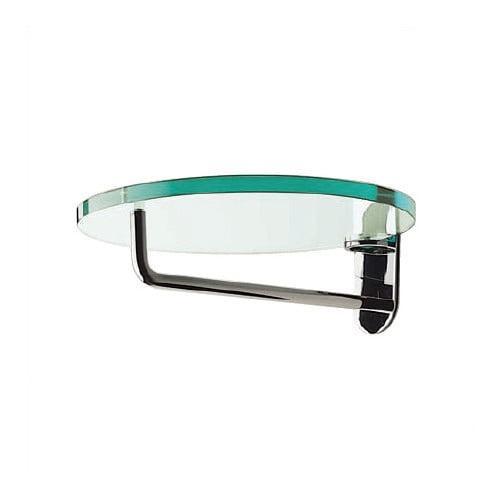 Peter Pepper Artform Frisbi Glass Hat and Coat Rack with Chrome Hanger Bar