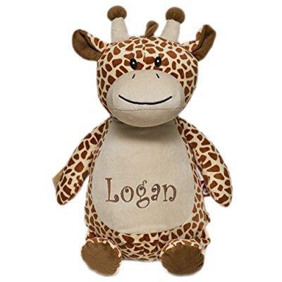 Personalized Monogrammed Baby Cubbies Giraffe Stuffed Animal Plush