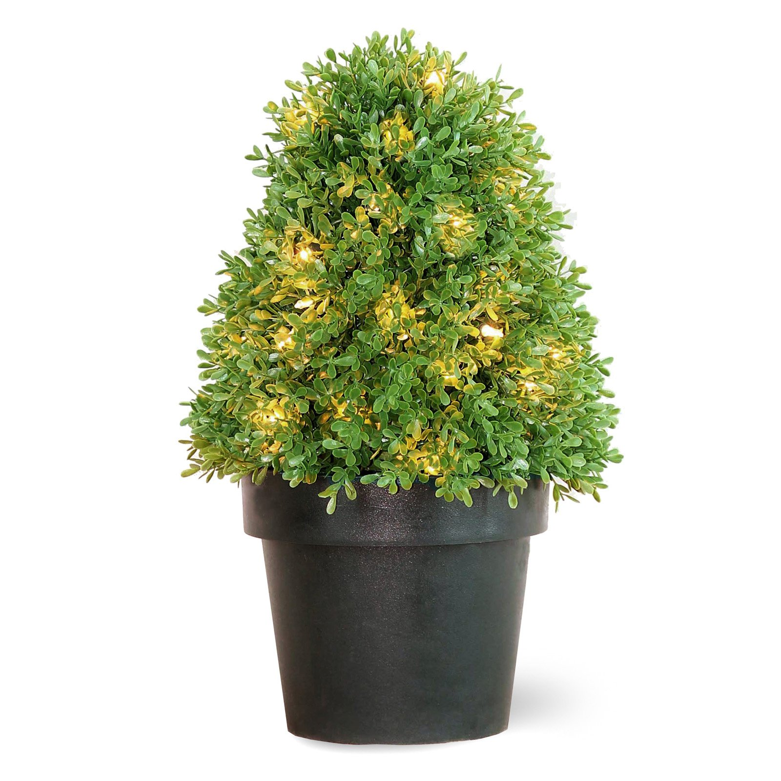 "Pre-Lit 18"" Artificial Boxwood Tree"