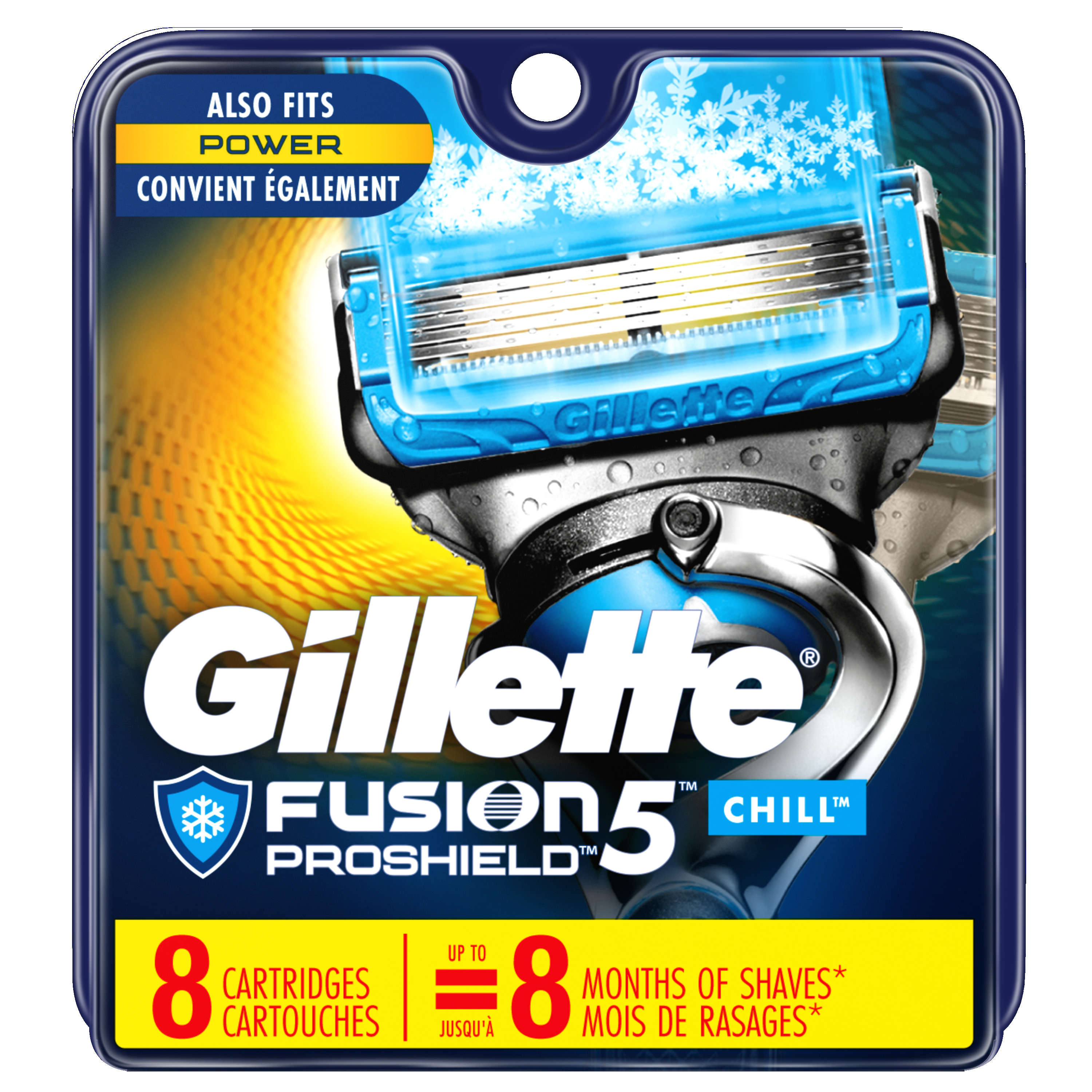 Gillette Fusion5 ProShield Chill Men's Razor Blades - 8 Refills