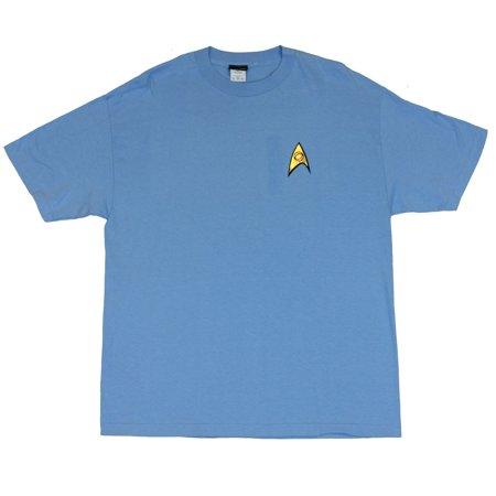 Star Trek Mens T Shirt  - Classic Blue Spock Uniform Style T Shirt [Apparel] (Star Trek Dress Uniform)