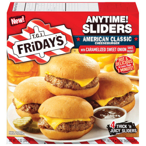T.G.I. Friday???s Cheeseburger Sliders With Caramelized Sweet Onion Sauce, 4pk