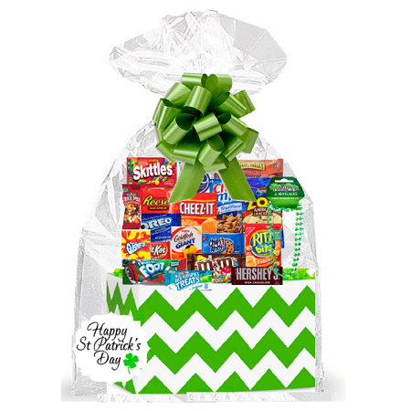 Saint Patrick's Day Thinking Of You Cookies, Candy & More Care Package Snack Gift Box Bundle Set Care Package Gift Ideas