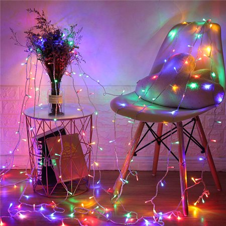 Garden 5 Piece Wall Hanging (110V 9.8ft x 9.8ft 300LED Curtain Light Fairy String Lights Indoor Decoration Hanging Wall Lights For Bedroom Living Room Garden Party Wedding Christmas Xmas Decor 5 Colors )