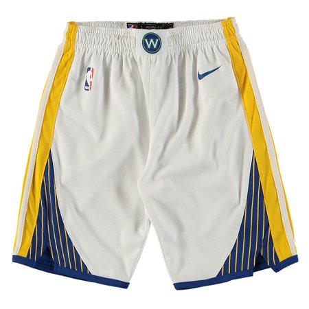 Golden State Warriors Nike Youth Swingman Association Performance Shorts - White