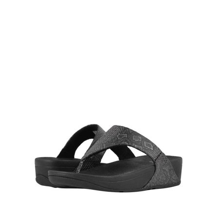 cbfd52f94d81 FitFlop - Fitflop Lulu Women s Python Leather Toe Thong Sandals M80-001 -  Walmart.com