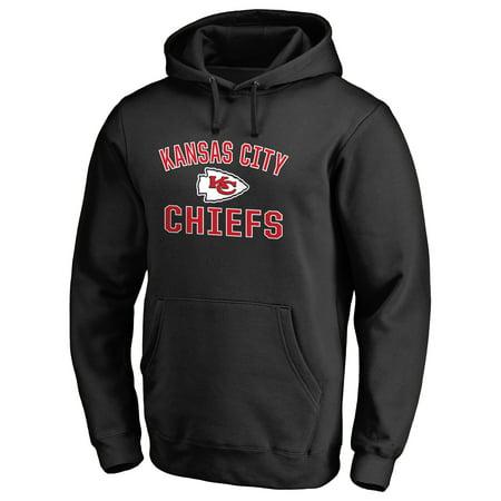 Kansas City Chiefs NFL Pro Line Victory Arch Pullover Hoodie - Black Fleece Kansas City Chiefs Sweatshirt