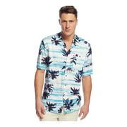 Tasso Elba Mens Palm Print Button Up Shirt