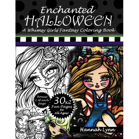 Enchanted Halloween : A Whimsy Girls Fantasy Coloring - Halloween Activities And Games