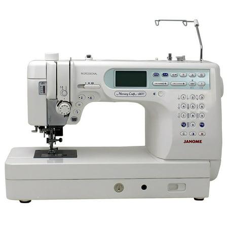 Janome Memory Craft 6600p - Janome Memory Craft 6600P Professional Computerized Sewing Machine With Exclusive Bonus Bundle