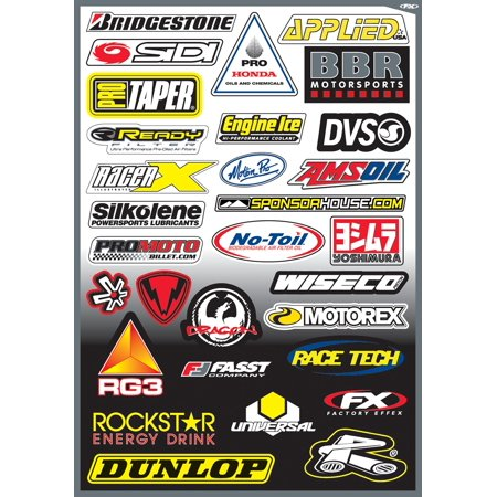 Factory Effex Sponsor Stickers Kit    10-68006