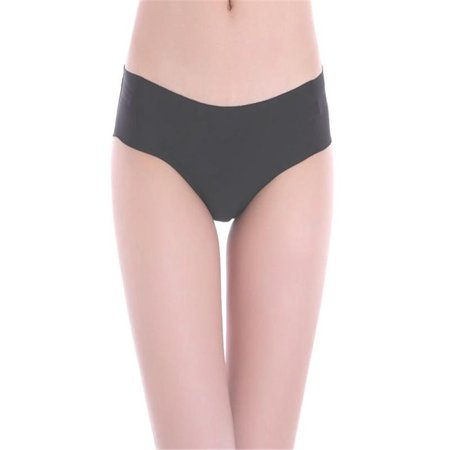 Women Invisible Underwear Thong Cotton Spandex Gas Seamless Crotch BK L
