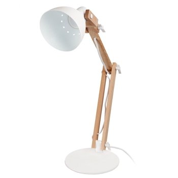 TorchStar Natural Wood Swing Arm Desk LED Lamp
