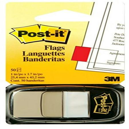 Post-it Flags, White, 1 Inch Wide, 50 per Dispenser, 1 Dispenser per Pack (680-6 (36))