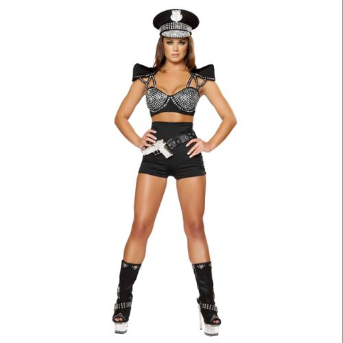 Deluxe Seductive Cop Sexy Adult Costume - Size SM