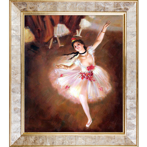 Tori Home Star Dancer on Stage by Edgar Degas Original Painting on Canvas