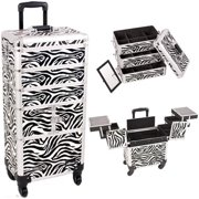Sunrise I3364ZBWH Zebra Trolley Makeup Case