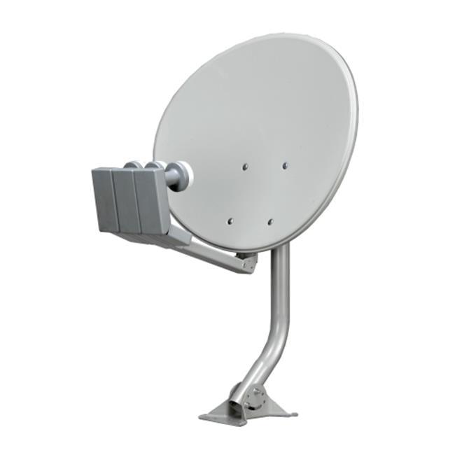 Homevision Technology DWDRU46E 24 Inch - 18x24 inch Elliptical Dish with RU-Rotational Mount in Bulk - Taiwan with 2xDual