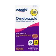 Equate Omeprazole Delayed Release Tablets 20 mg, 14 Count