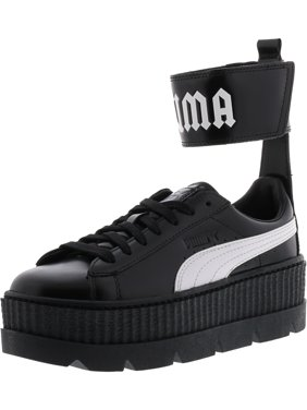 9bd824f111bb Product Image Puma Women s Fenty X Ankle Strap Sneaker Black   White Ankle-High  Leather Fashion -