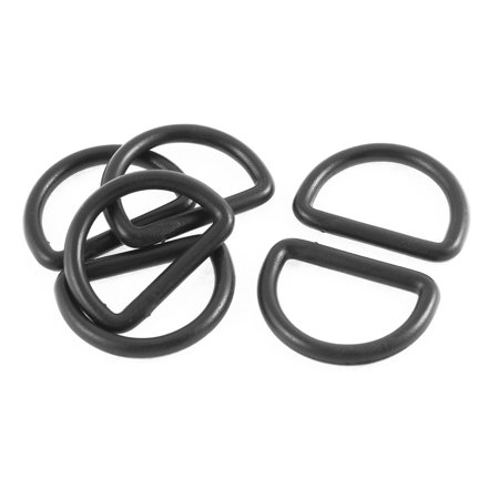 Bag Strap Band Tightness Adjuster Plastic D Shaped Ring Buckles Hooks Black (Ring Black Baffle)