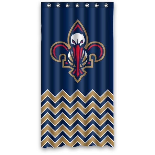 DEYOU New Orleans Pelicans Shower Curtain Polyester Fabric Bathroom Shower Curtain Size 36x72 inches
