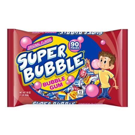 Super Bubble Tutti Frutti, Apple, & Grape Bubble Gum, 16 Oz. - Types Of Bubble Gum
