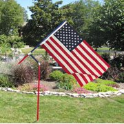 Red, White and Blue PVC Flagpole, Made in the USA, Includes 3'x5' made in the USA Flag, Great for camping, Tailgating or your Yard