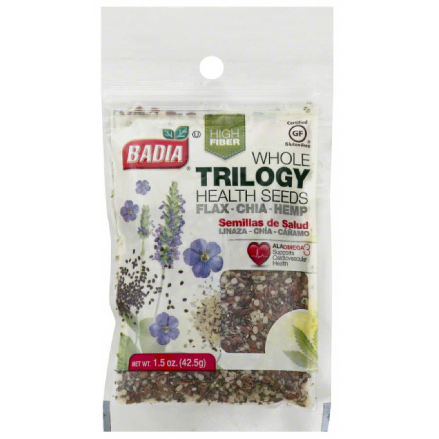 Badia Whole Trilogy Health Seeds, 1.5 oz, (Pack of 12)